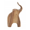"Benzara Exclusive Wood Elephant 7""W, 11""H"