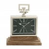 Benzara Adorable Steel Wood Table Clock