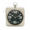 Benzara Contemporary Styled Steel Table Clock