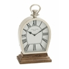 Benzara Stunning Steel Wood Table Clock
