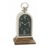 Benzara Astounding Steel Wood Table Clock