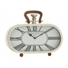 Benzara Fantastic Steel Wood Table Clock