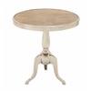 """Benzara Elite Aluminum Wood Accent Table 24""""W, 25""""H"""