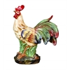 Benzara Ceramic Rooster In Green, Brown And Red Colors