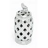 Benzara Stunning Tibetan Ceramic Silver Jar
