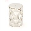 Shinyceramic Silver Stool, Silver