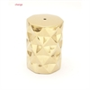 Shimmering Ceramic Gold Stool, Gold