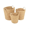Attractive, Natural Brown, Set Of Three Sea Grass Basket