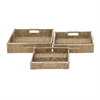 Trendy, Natural Brown, Set Of Three Sea Grass Basket