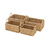 Useful, Natural Wood, Set Of Four Sea Grass Baskets