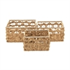 Stunning Sea Grass Basket, Natural wood, Set Of 3