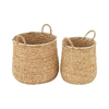 Awesome Sea Grass Basket, Natural wood, Set Of 2