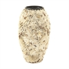 41155 Splendid Ceramic Shell Vase, Off White