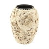 41156 Splendid Ceramic Shell Vase, Off White