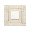 Chic Wood Shell Wall Mirror, Beige