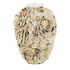 Gorgeous Shell Ceramic Vase, Pearl