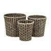 Exceptional Sea grass Metal Basket, Shades Of Brown, Set Of 3