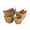 Designer Wicker Metal Basket, Light Brown, Set Of 4