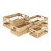 Chic Hyacinth Basket, Light Brown, Set Of 4