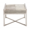 The Charming Stainless Steel Grey Leather Stool