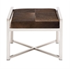 Benzara The Stable And Stylish Stainless Steel Brown Leather Stool