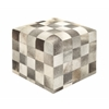 Classic And Classy Wood Leather Ottoman