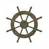 Benzara Wood Ship Wheel Brings Nautical Life In Your Home
