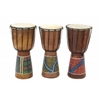 "Benzara Wood Drum 3 Assorted 8""W, 16""H"