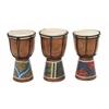"""Benzara Wood Drum 3 Assorted 5""""W, 8""""H"""