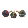 "Benzara Wood Coco Maracas 3 Assorted 5""W, 9""H"