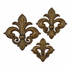 Benzara Metal Wall Decor Set Of 3 With Bronze Finish In Flower Design