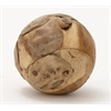 "Benzara Teak Wood Ball 7""D"