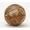 "Benzara Teak Wood Ball 9""D"