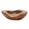 "Teak Wood Resin Bowl 23""W, 7""H"