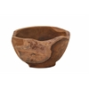 "Benzara Teak Wood Bowl 11""W, 7""H"