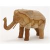 "Benzara Teak Wood Elephant 17""W, 10""H"