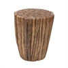 42034 Stylish Teak Stool, Natural Wood