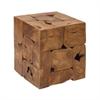 42035 Stylish Teak Stool, Natural Wood