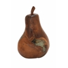 "Benzara Teak Wood Resin Pear 10""W, 16""H"