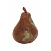 "Teak Wood Resin Pear 10""W, 13""H"