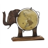 Gorgeous Metal Wood Elephant Globe Bronze, Multicolor