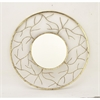Chic Round Metal Wall Mirror, Gold