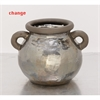 Fascinating Ceramic Metallic Pot, Taupe, Silver