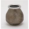 Classy Ceramic Silver Vase, Chrome Silver