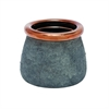 Chic Ceramic Vase, Grey And Copper