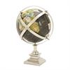 Elegant Aluminum Globe, Multicolor
