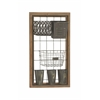 Benzara Multipurpose Metal Wood Wall Storage
