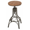 "Benzara Metal Wood Adjacent Bar Stool 14""W, 28""H"