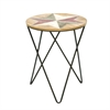 Durable Wood Metal Accent Table, Shades Of Brown