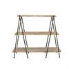 Useful Wood Metal 3-Tier Shelf, Shades Of Brown